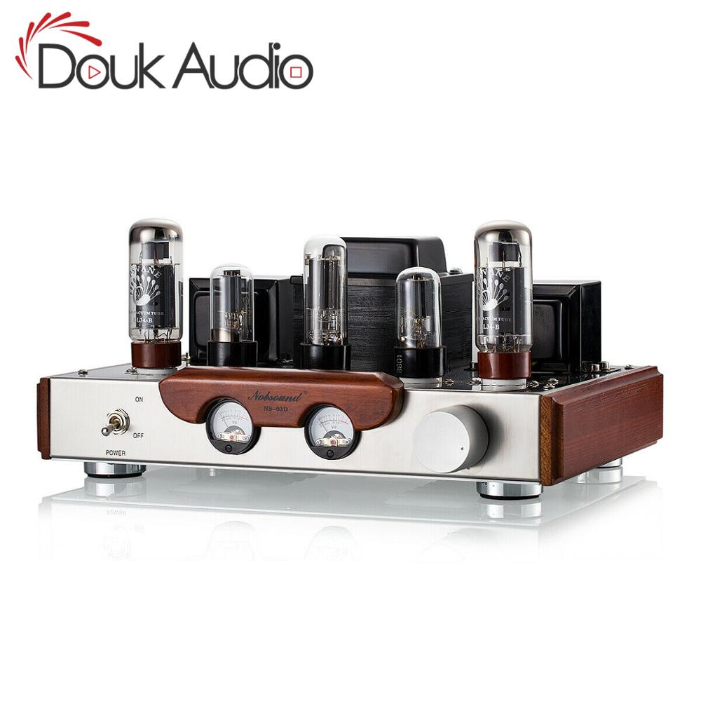 Nobsound Handmade EL34 Valve Tube Amplifier Single-ended 2.0 Channel HiFi Class A Stereo Power Amplifier