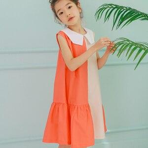 Image 5 - שמלות ילדים חדשות בנות שני צבעים טלאים ילדי קיץ שמלת 2020 כותנה תינוק נסיכת שמלה קיצית פעוטות, #5070