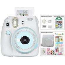 5 renk Fujifilm Instax Mini 9 anında fotoğraf filmi kamera kiti ile taşıma çantası, instax Mini 20 levhalar filmi, albümü, çıkartmalar ve Lens