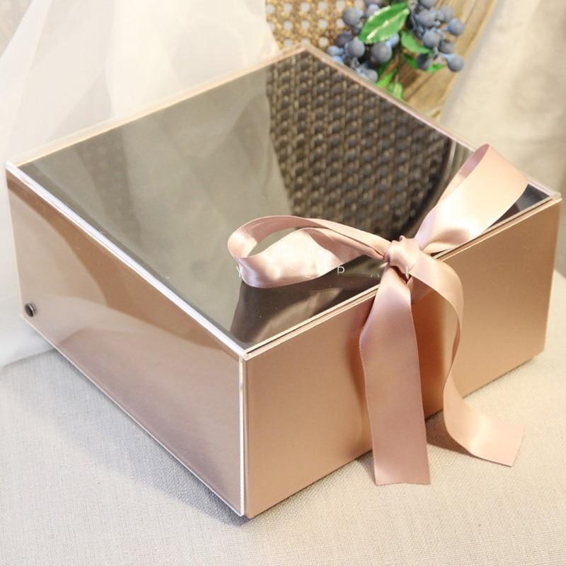 1PCS Lot Elegant Acrylic Groom Groomsman Bride Bridesmaid Gift Box For Wedding Hen Party Anniversary Gifts Boxes