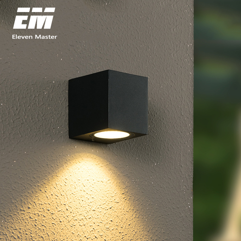 3w modern led recessed square wall lamp