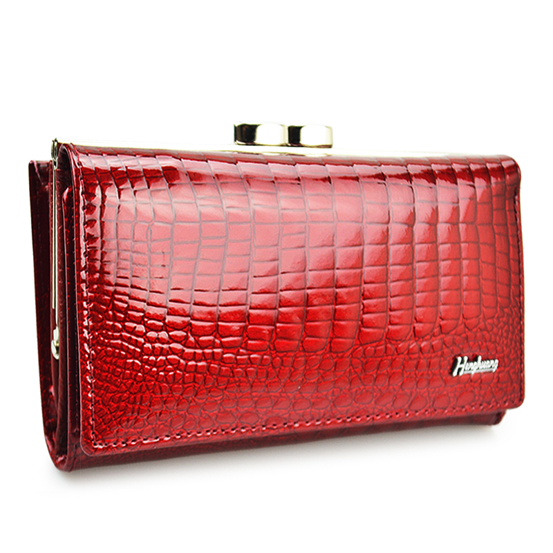 HH Women Luxury Brand Fashion Genuine Leather Short Wallet Female Alligator Hasp Lady Coin Purse Purses Small Wallets
