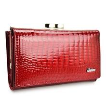 HH Women Luxury Brand Fashion Genuine Leather Fashion Short Wallet Female Alligator Hasp Lady Coin Purse Purses Small Wallets цена и фото