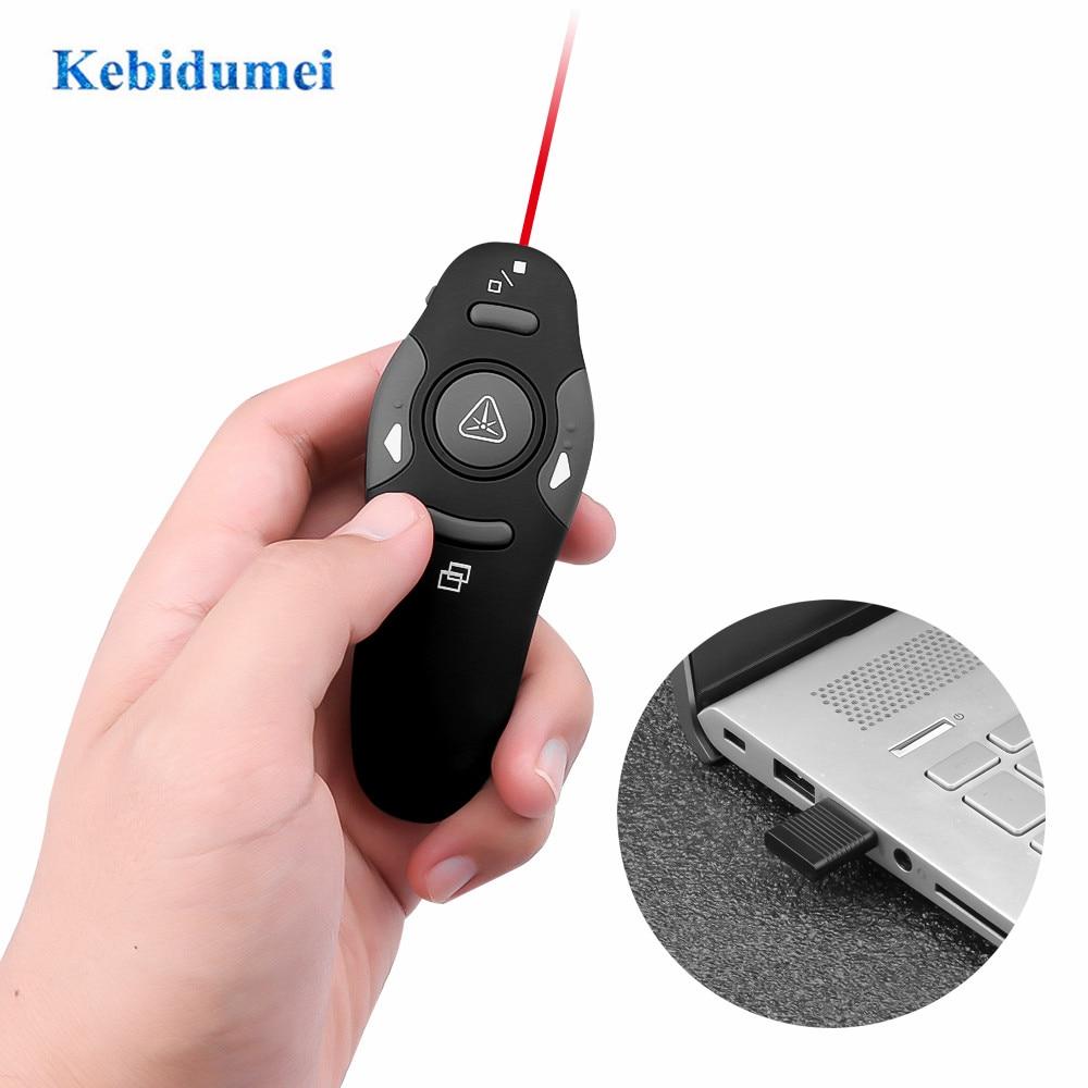 2,4G беспроводной ведущий лазерный указатель светодиодный красный лазер лазерная ручка Usb PPT пульт дистанционного управления для презентаци...