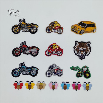 New arrive Cartoon Car Bee Patch High Quality Iron on patch Embroidery Applique DIY Motifs Stickers Clothing Badges Accessories image