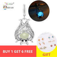 2019 New Arrival Sterling Silver Bat Glowing Charms Pendant Fit Authentic original charms silver 925
