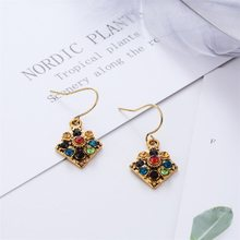 Fashion Earrings Vintage Women's Earrings National Wind Bohemian Style Earrings for Women Gold Earrings(China)