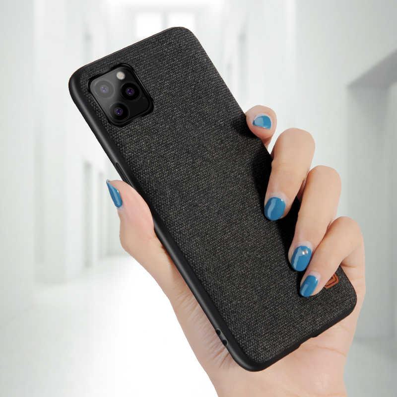 Para o iphone 11 Pro Caso Caixa Do Telefone Para o iphone Caso 11 Max Max 11 Escuro Pano Azul Preto Para iPhone pro max 5.8 6.1 6.5 Tampa