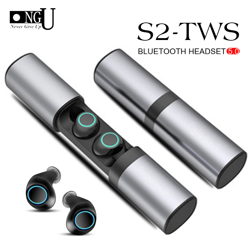 <font><b>TWS</b></font> <font><b>S2</b></font> True <font><b>Wireless</b></font> Earphones Bluetooth Headset Binaural Mini <font><b>TWS</b></font> <font><b>Earbuds</b></font> With Charging Box for iPhone for Huawei for Samsung image