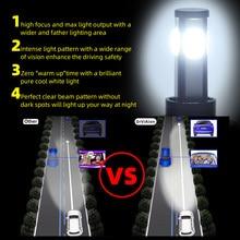 2* Car Auto 4 LED Headlights D8-H7 Lamp Bulbs 6500K DC 9-32V Waterproof Parts