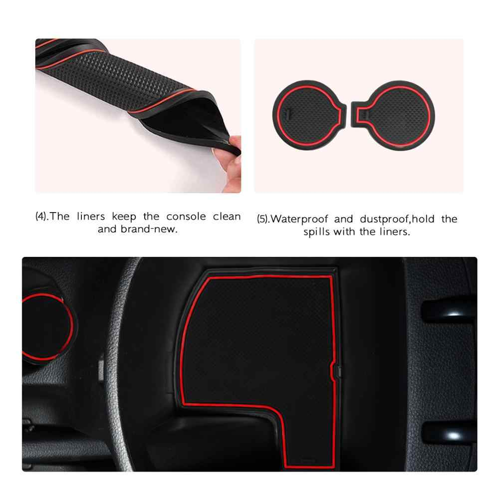 Red Door Slot Mat for 2020 2021 Seltos Celtos Non-Slip Interior Door Groove Gate Pad Compartment Cup Center Console Liners Car Accessory Decoration