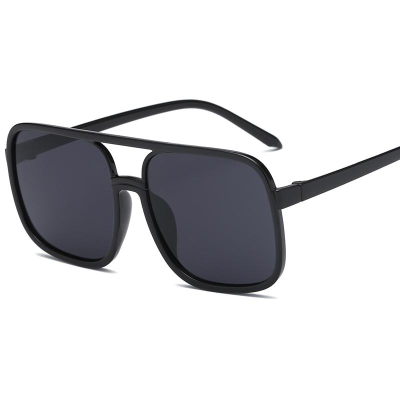 Black Color Oversize Sunglasses for Women Beach Shade Eyewear Square Vintage Big Sun Glasses 2019 Clearance Sale Items|Women