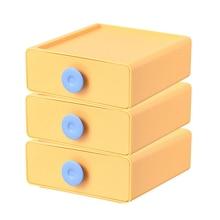 3pcs/set Documents Storage Box Holder Makeup Desk Organizer Sliding Drawers For Paper/Files Magazines Organizing 4Colors