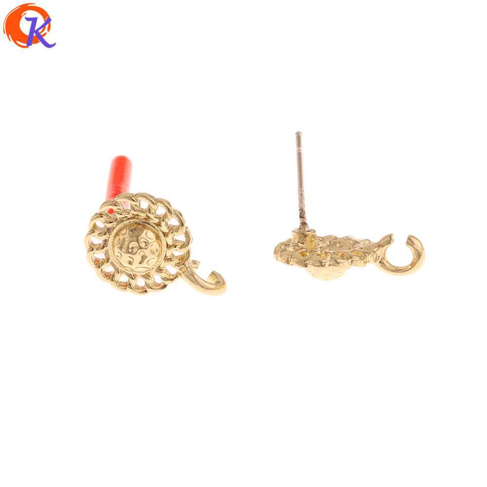 Cordial Design 100Pcs 11*15MM Jewelry Accessories/Earring Findings/Round Shape/Hand Made/DIY Parts/Jewelry Making/Earrings Stud