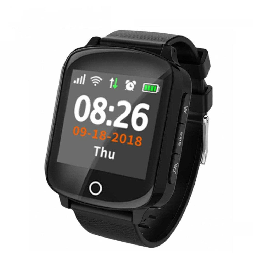 D100 D200 Idosos Relógio Inteligente GPS + LBS + WIFI Posicionamento Anti-perdido Freqüência Cardíaca Pressão Arterial D200 Smartwatch IP68 Relógio À Prova D' Água