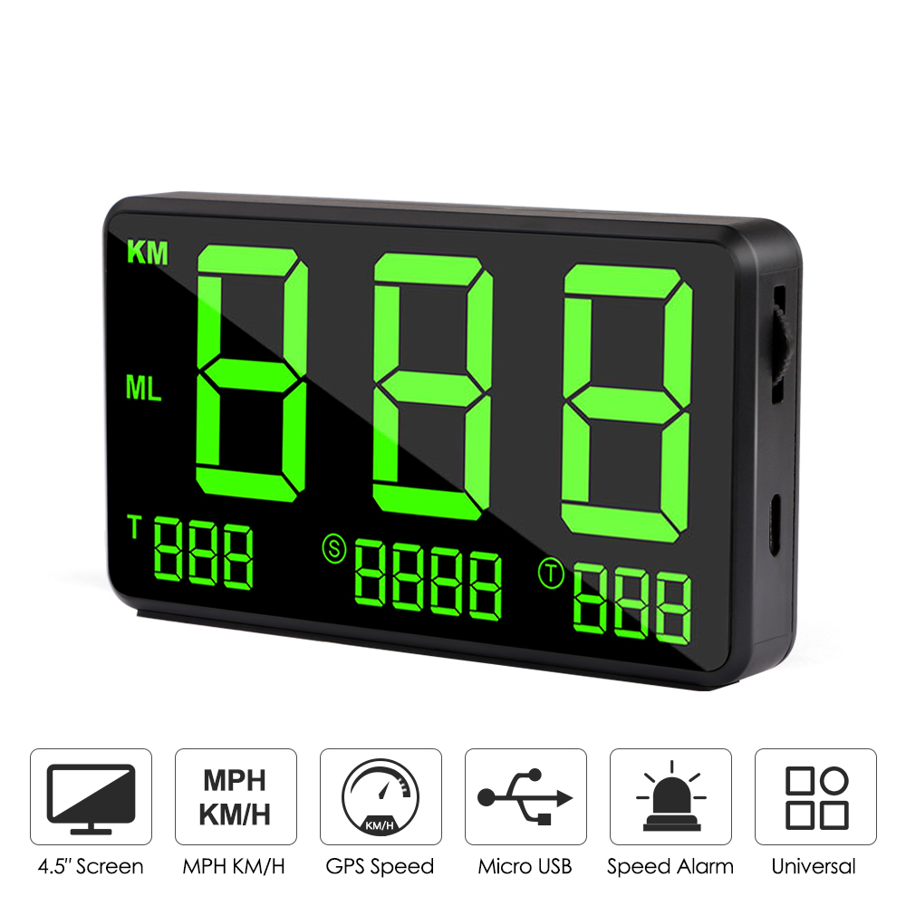 Car <font><b>GPS</b></font> Speedometer <font><b>C60</b></font> HUD Display Automatic Record Mileage Large Screen Headup Display Overspeed Alarm Auto Electronics Speed image