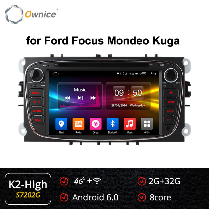 Ownice K1 K2 K3 4G LTE Android 9.0 Octa 8 Core Car DVD Player <font><b>GPS</b></font> For <font><b>FORD</b></font> <font><b>Mondeo</b></font> S-MAX Connect FOCUS 2 2008 2009 <font><b>2010</b></font> 2011 32G image