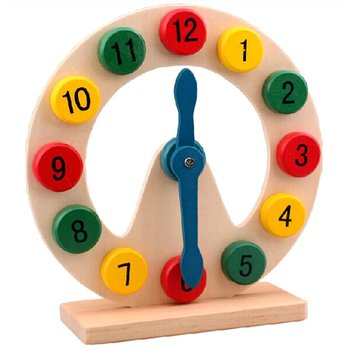 Mathematics Teaching Aid Early Education Know Time Clock Wooden Puzzle Children Educational Toys Digital Clock montessori wooden puzzle children counts kindergartens mathematics teaching aids baby early education math toys digital stick