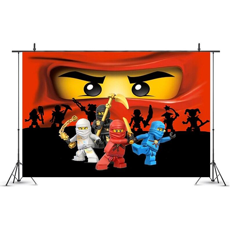 Legoing ninjagoing tema festa pano de fundo ninja super herói menino festa de aniversário decoração foto estúdio fotografia fundo adereços