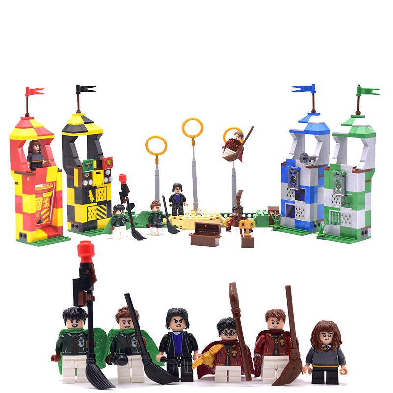 Hagrid Hut Harri Castle House Mini Animals Figures Building Blocks