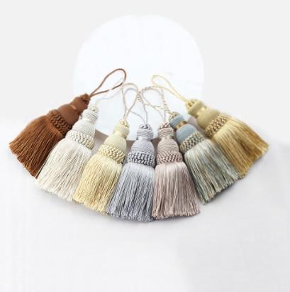 10pcs 13cm Silky Tassels Craft Sewing Decoration Costume Bookmark Cord Loop UK
