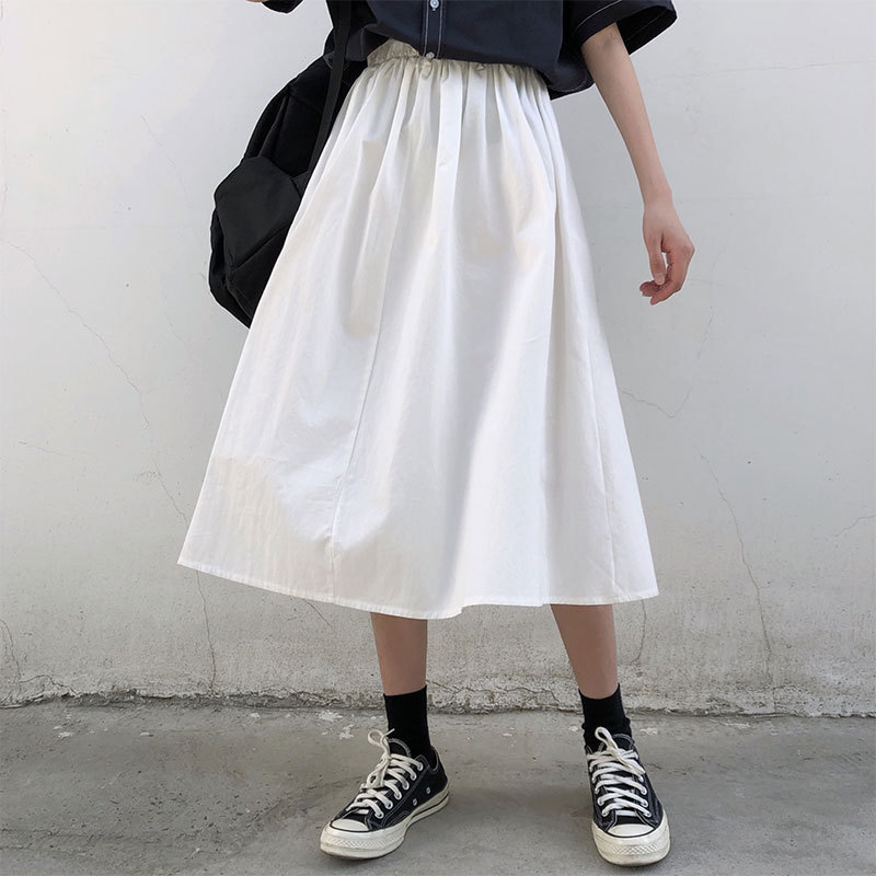 Price Is Not Low 38 Photo Shoot New Style Japanese-style Literature And Art Retro Simple Versatile Students Workwear Full Skirt