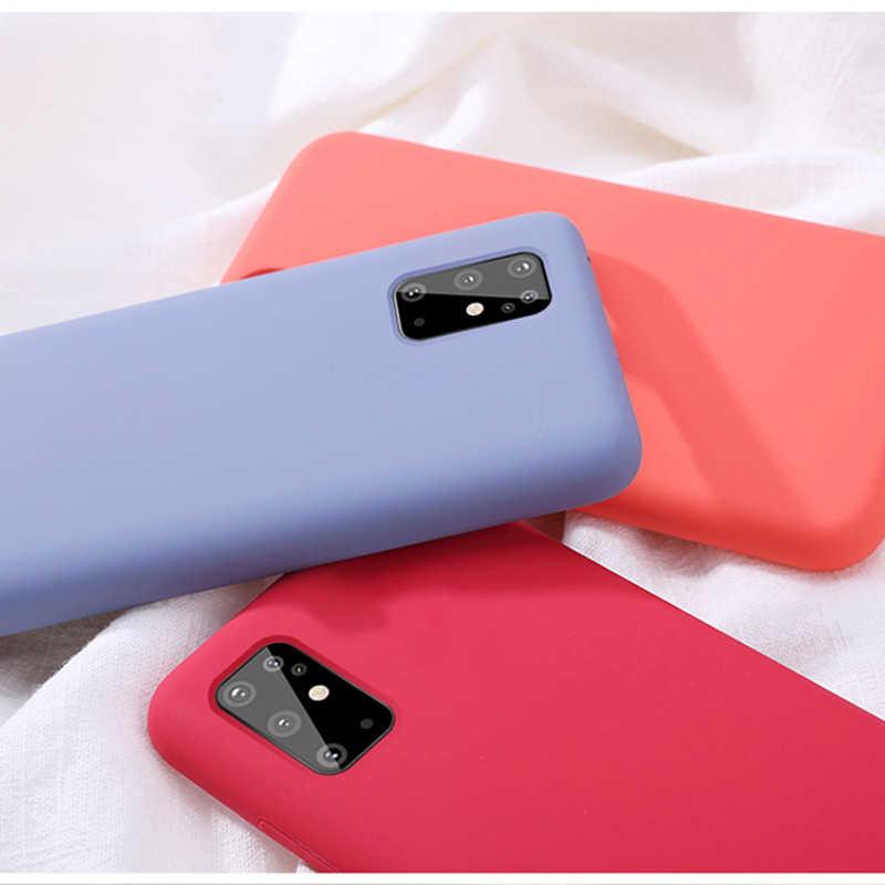 Funda de teléfono para Samsung Galaxy S20 Ultra S20 Plus + 5G funda de lujo de silicona líquida Original de terciopelo
