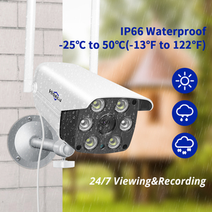 Image 2 - 1080P 2MP 4MP  WIFI IP Camera Outdoor ONVIF Wireless Waterproof Camera App Alarm Color Night Vision TF Card Hiseeu
