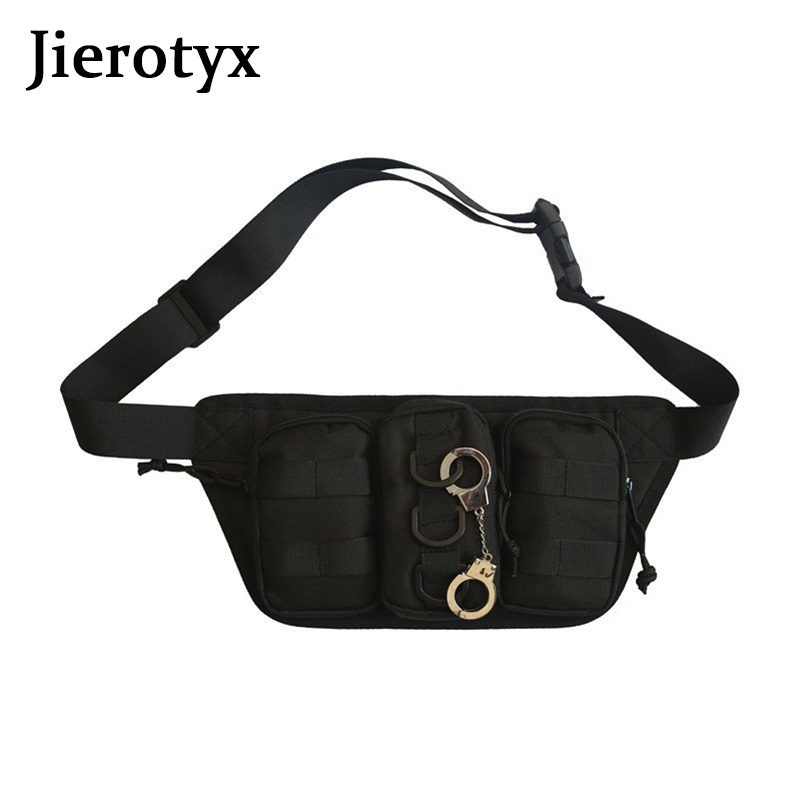 JIEROTYX Fashion Gothic 2020 Women Waist Packs Travel Female Fanny Pack Chic Belt Bag Purse Chest Waist Pack Nylon Waist Bag