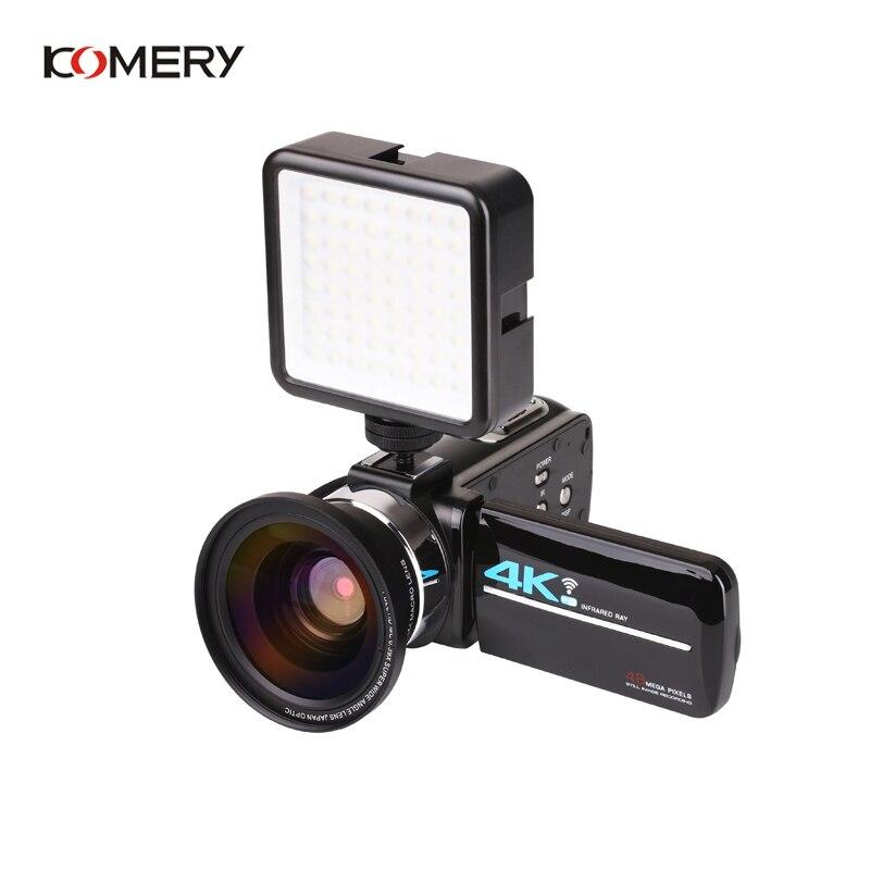 KOMERY Nuovi Arrivi 4K 48MP Video Macchina Fotografica di 3.0 In HD Dello Schermo di Tocco/Visione Notturna/Wifi Microfono Esterno /Flash/Uscita HDMI/A Raggi Infrarossi - 2