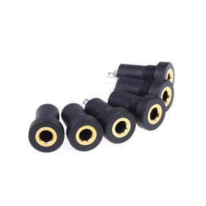 Image 5 - 10pcs 3.5MM Audio Jack Socket 3 Pole Black Stereo Solder Panel Mount Gold With Nuts Connector
