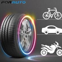 FORAUTO 2 uds lámpara de neón tapa de válvula de neumático de coche linterna decorativa tipo de varilla bicicleta de montaña luz rueda radios lámpara LED Luz