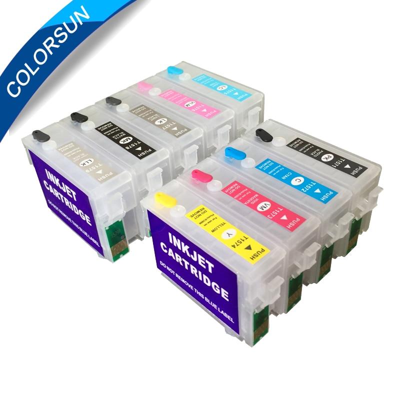 9 cores recarregaveis cartucho de tinta para 04