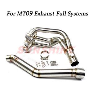 Exhaust Motorcycle Full Systems Pitbike Front Pipe Modified Slip on Muffler Connect Tube For MT09 MT-09 FZ-09 tracer 2014-2018
