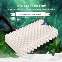 Curve 40x60cm Latex pillow micro-explosive natural latex neck core lute massage 100% adults