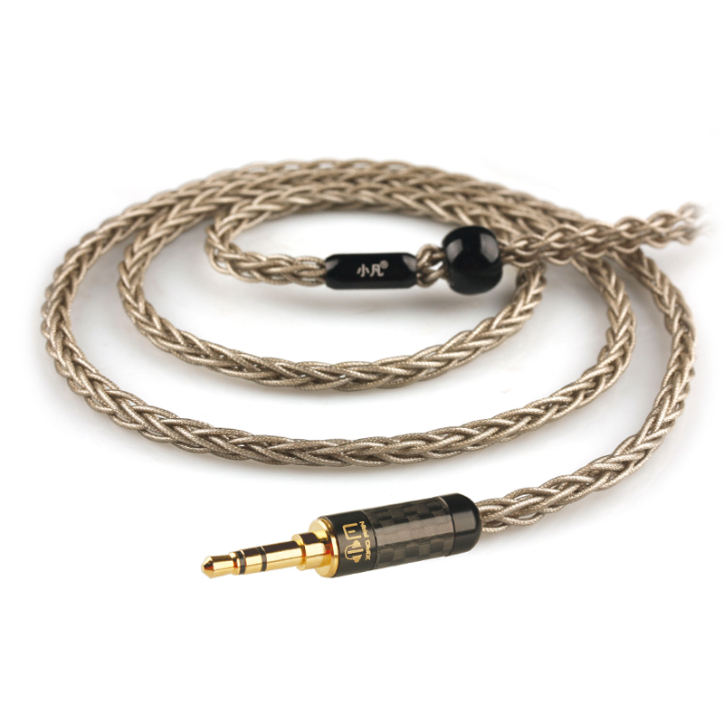 Xiaofan A9 8 Core Silver Plated Upgrade Cable 2.5/3.5/4.4mm Balanced Cable With MMCX/2pin Connector For Sony Ex1000 Ie80 Im50