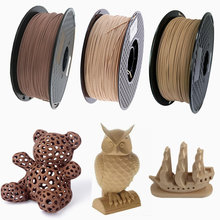 3D Wooden PLA 3D Printer Filament 1.75mm 1000G/500G/250G Mahogany Wood Color 3D Printing Materials Supply PLA Dropshipping