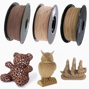 Image 1 - 3D Wooden PLA 3D Printer Filament 1.75mm 1000G/500G/250G Mahogany Wood Color 3D Printing Materials Supply PLA Dropshipping
