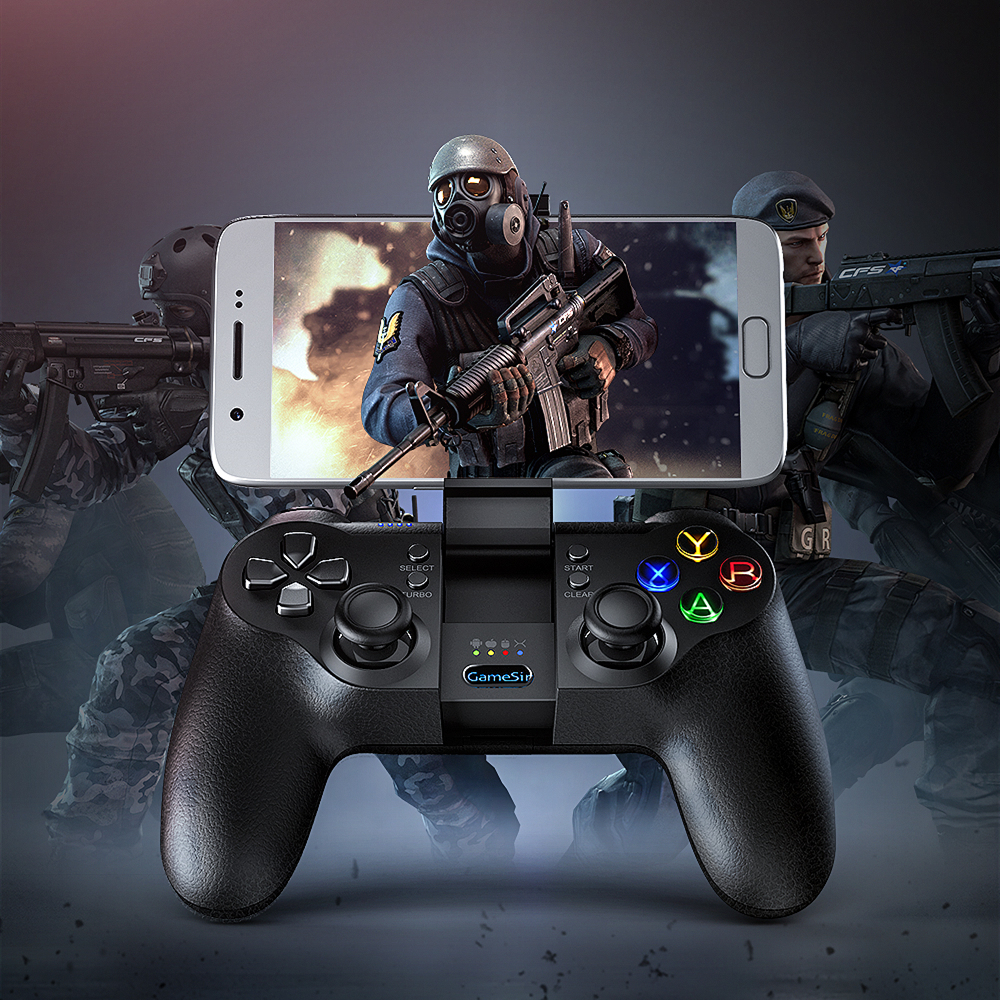 GameSir T1s Bluetooth Wireless Gamepad Mobile Game Controller Dual Wireless Connection for PUBG Call of Duty Android PC Joystick