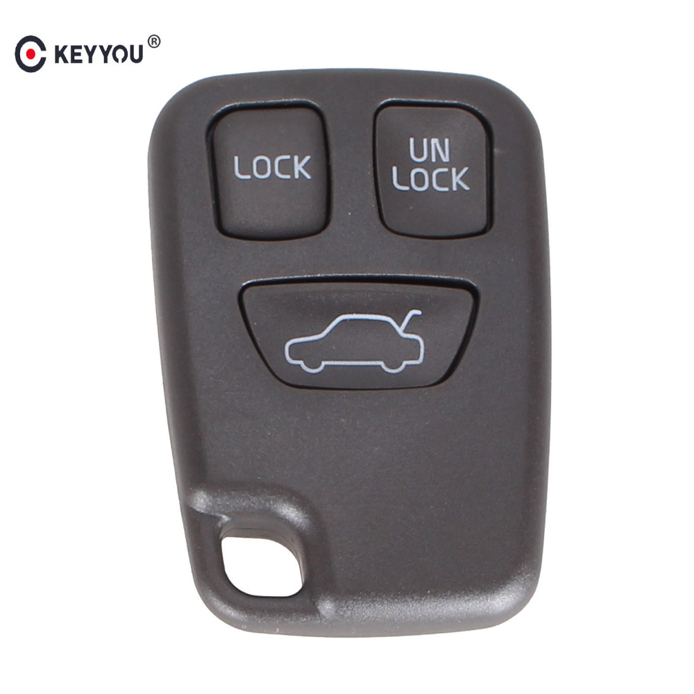 KEYYOU 3 Buttons Remote FOB Car <font><b>Key</b></font> Shell For <font><b>VOLVO</b></font> S70 V70 C70 <font><b>S40</b></font> V40 98-05 Auto <font><b>Key</b></font> Fob Case <font><b>Replacement</b></font> image