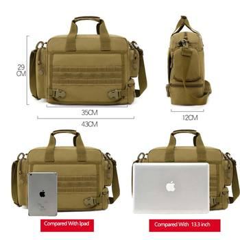 NANCY TINO Military Handbag 14inch Laptop Tactical Bags Camouflage Army Molle System Bag Ffor Camping Hiking Travel Outdoor 2