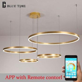 Modern Led Pendant Lights for Living Room Bedroom DinIng Room Gold&Black Frame Pendant Lamps Indoor Hanging Lighting Fixtures