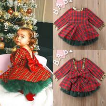 Рождественские вечерние платья для маленьких девочек милое красивое