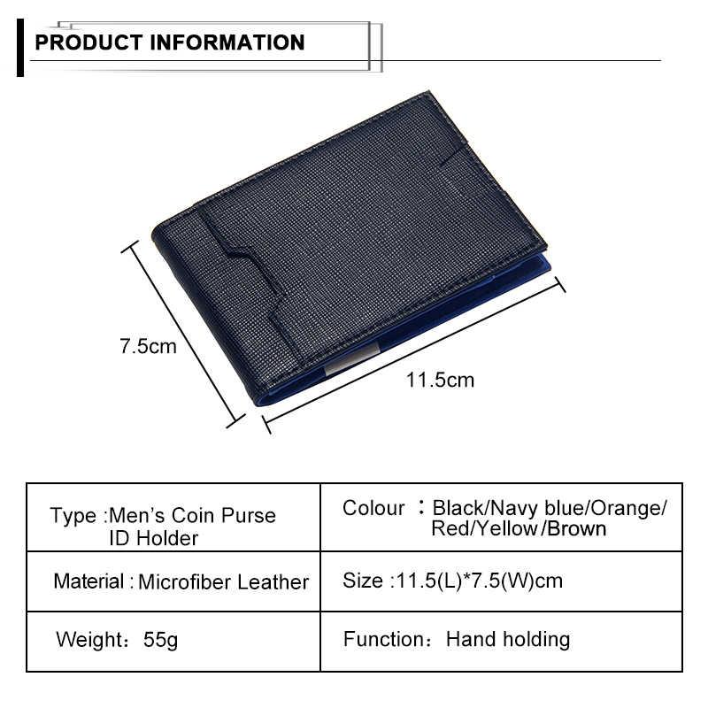 Mode Mannen Portemonnee Casual Multi-card Positie Creditcardhouder Ultra Dunne Portemonnee Voor Mannen Draagbare Bifold Mannelijke clutch Bag