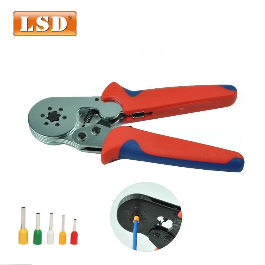 ابزار قابل تنظیم چین دار LSC8-6-6 0.25-6mm2 بوتلای فلزی قلاب توخالی 24-10AWG لوله ترمینال شش ضلعی