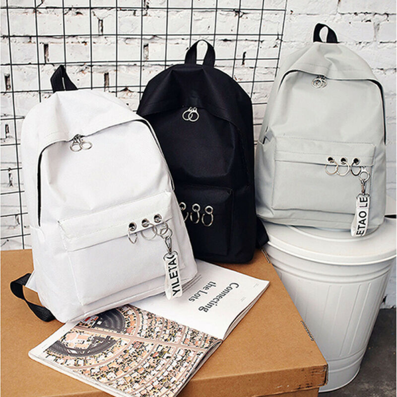 2019 New Backpack Fashion Canvas Women Backpack Pendant Travel Women Shoulder Bag Harajuku Backpack Female Bagpack School Bags