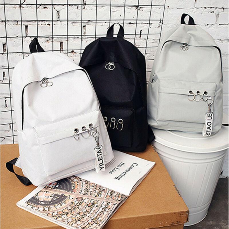 2019 New Backpack Fashion Canvas Women Backpack Pendant Travel Women Shoulder Bag Harajuku Backpack Female Bagpack School Bags