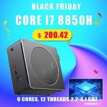 Mini PC Windows 10 Intel Core i7 8850H i5 8300H, Mini ordenadores para juegos, ventilador potente Mini DP HDMI AC Wifi y BT VESA soporte PC