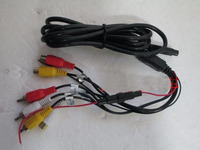 1pcs 12V vehicle DVD headrest display headrest MP5 universal power cord 8 pinhole connection extension cable