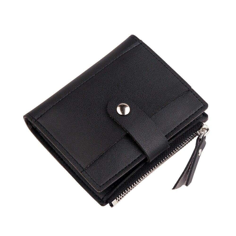 Роскошные Брендовые женские кошельки, длинный модный кошелек из искусственной кожи с застежкой, Женский кошелек, клатч, женский кошелек, кошелек для монет - Цвет: Short-Black
